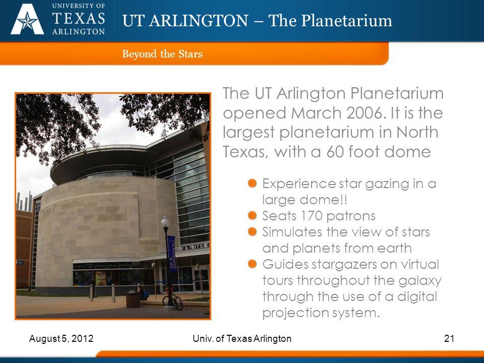UT ARLINGTON – The Planetarium