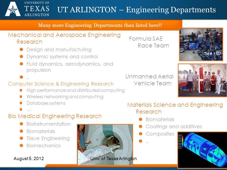 UT ARLINGTON – Engineering Departments