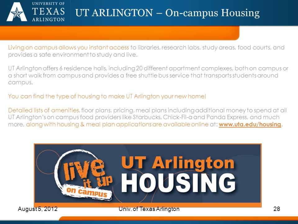 UT ARLINGTON – On-campus Housing
