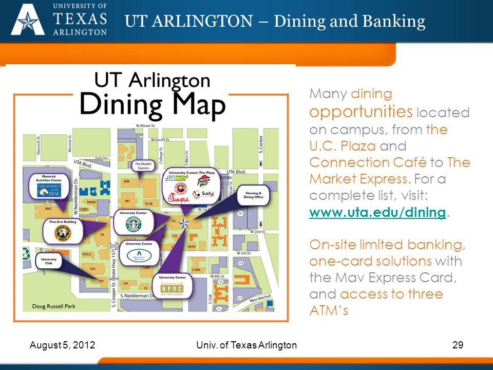 UT ARLINGTON – Dining and Banking