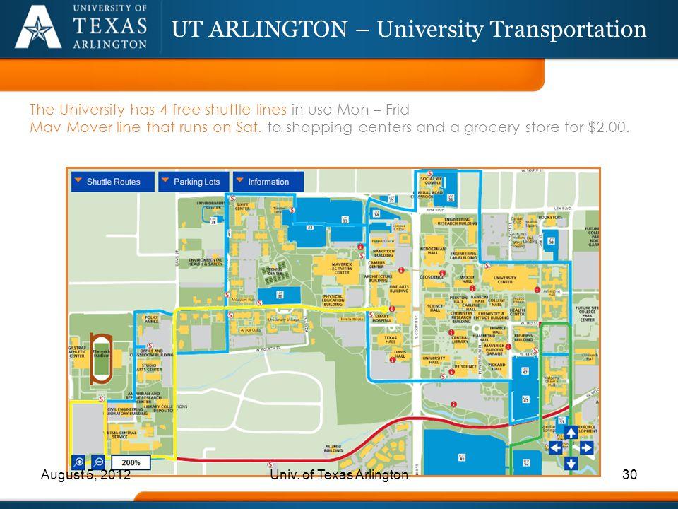 UT ARLINGTON – University Transportation