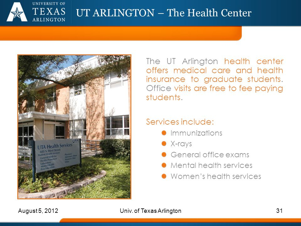 UT ARLINGTON – The Health Center