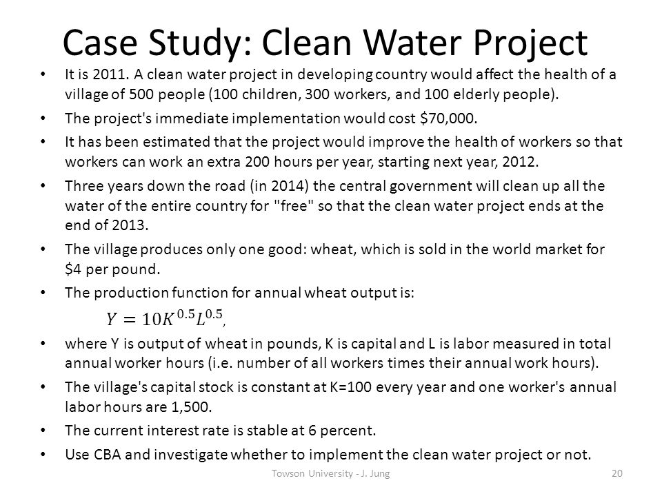 Case Study: Clean Water Project