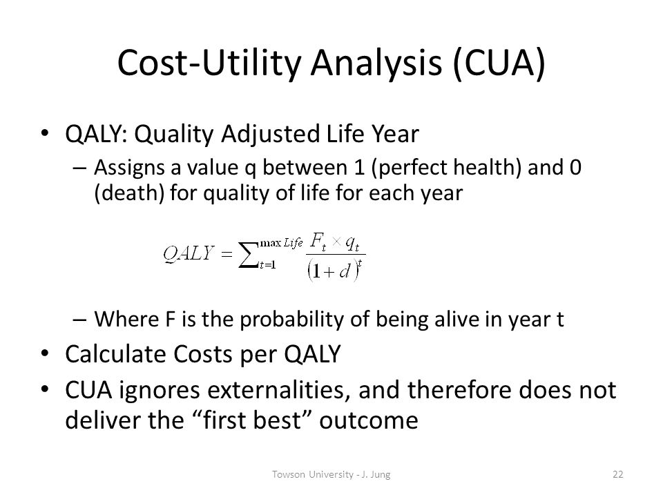 Cost-Utility Analysis (CUA)