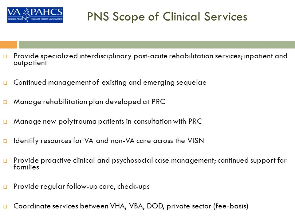PNS Scope of Clinical Services