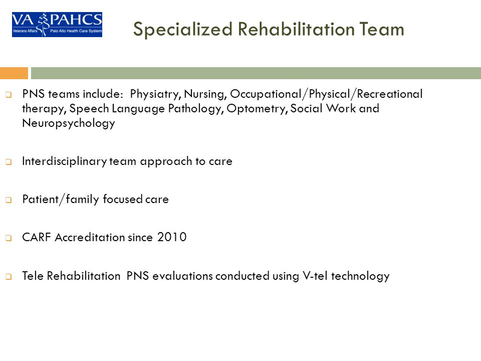 Specialized Rehabilitation Team