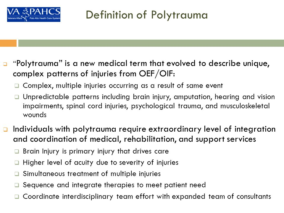 Definition of Polytrauma