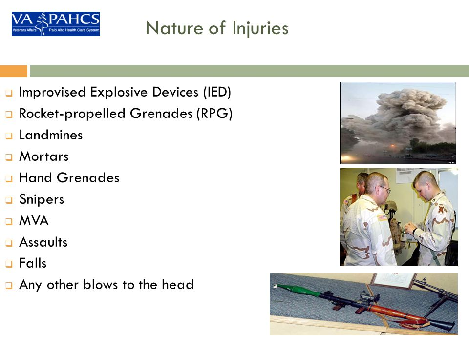 Nature of Injuries Improvised Explosive Devices (IED)