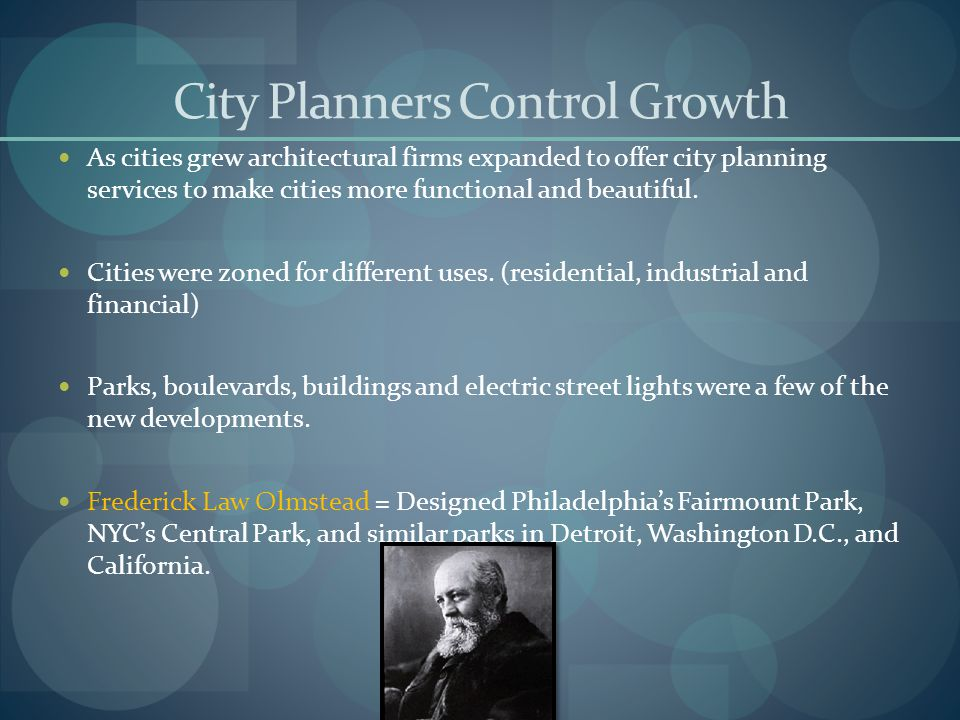 City Planners Control Growth