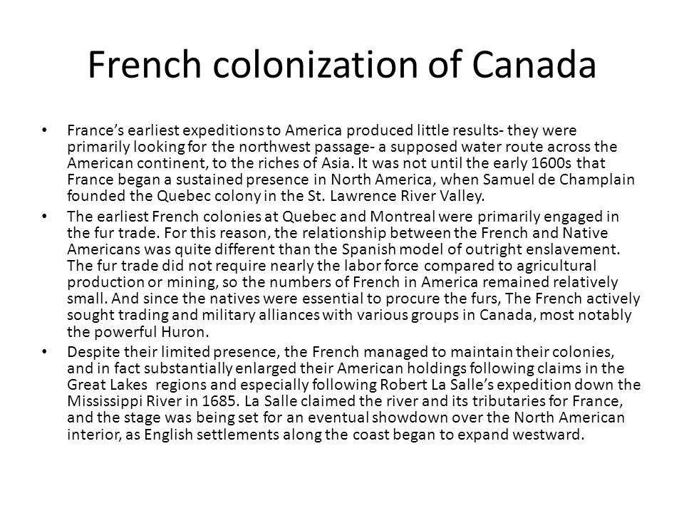 French colonization of Canada