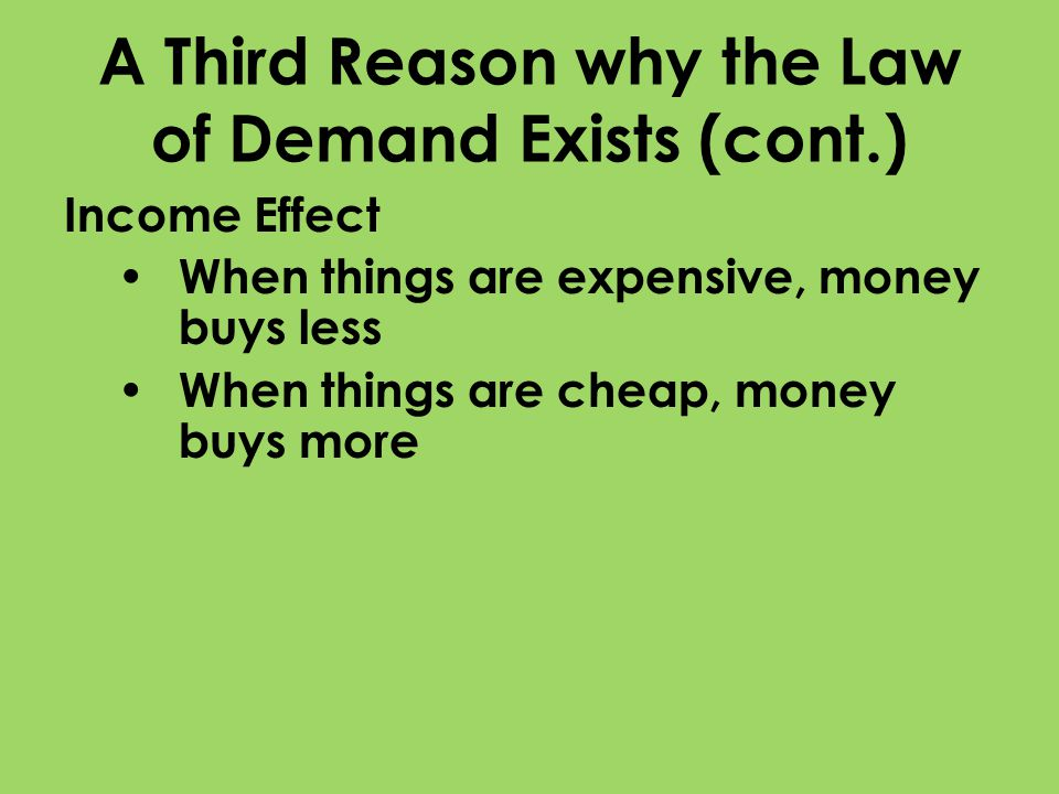 A Third Reason why the Law of Demand Exists (cont.)