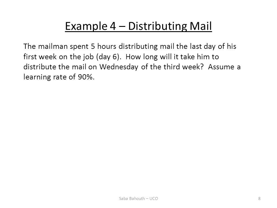 Example 4 – Distributing Mail