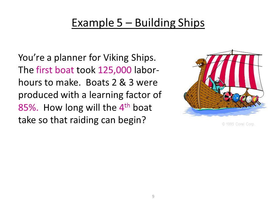 Example 5 – Building Ships