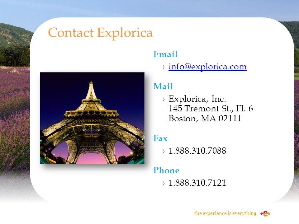Contact Explorica Email info@explorica.com Mail