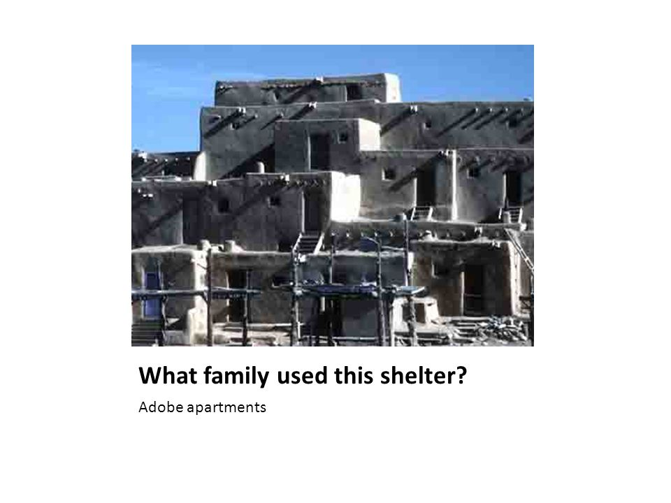 What family used this shelter