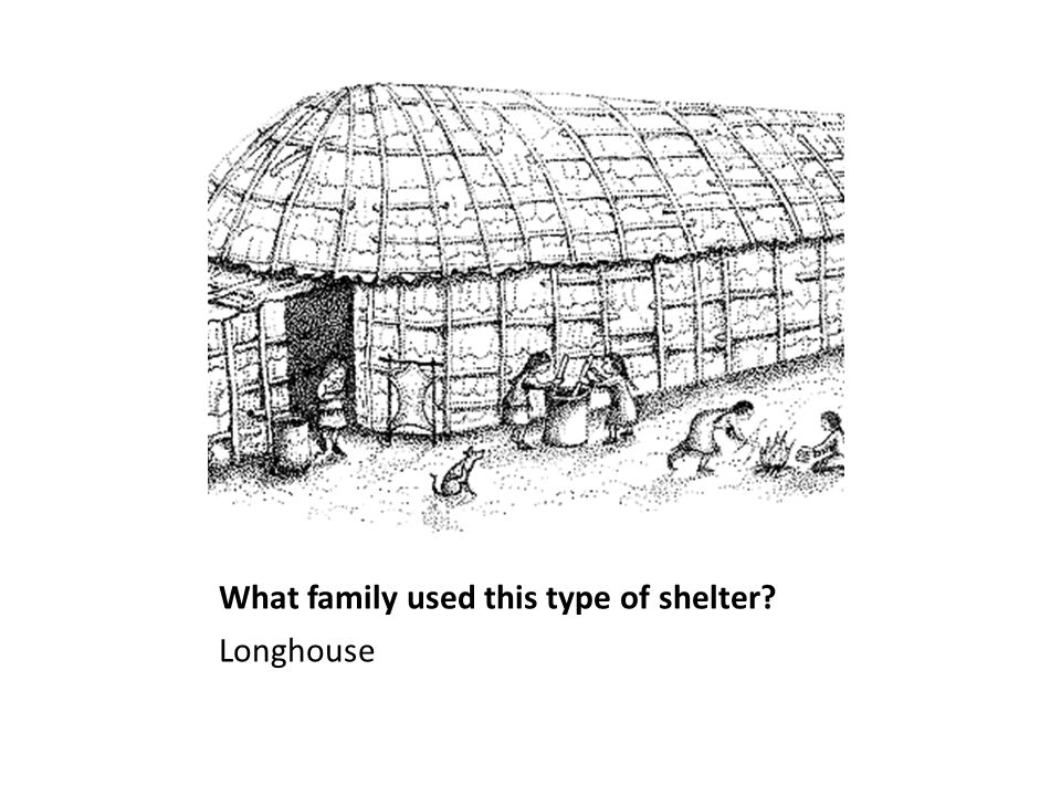 What family used this type of shelter