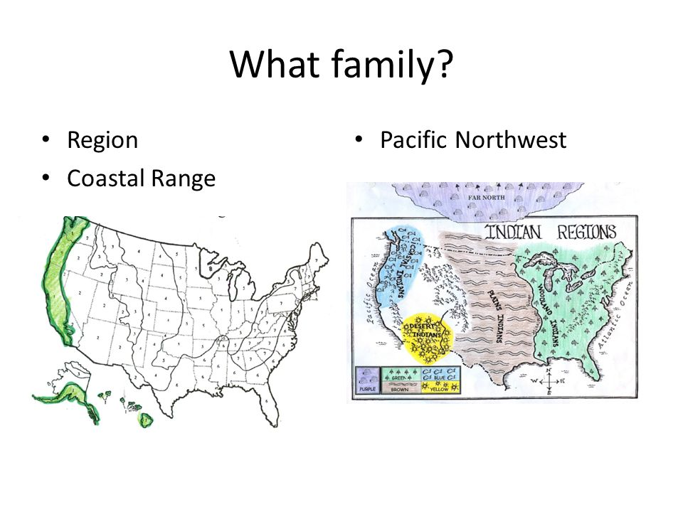 What family Region Coastal Range Pacific Northwest