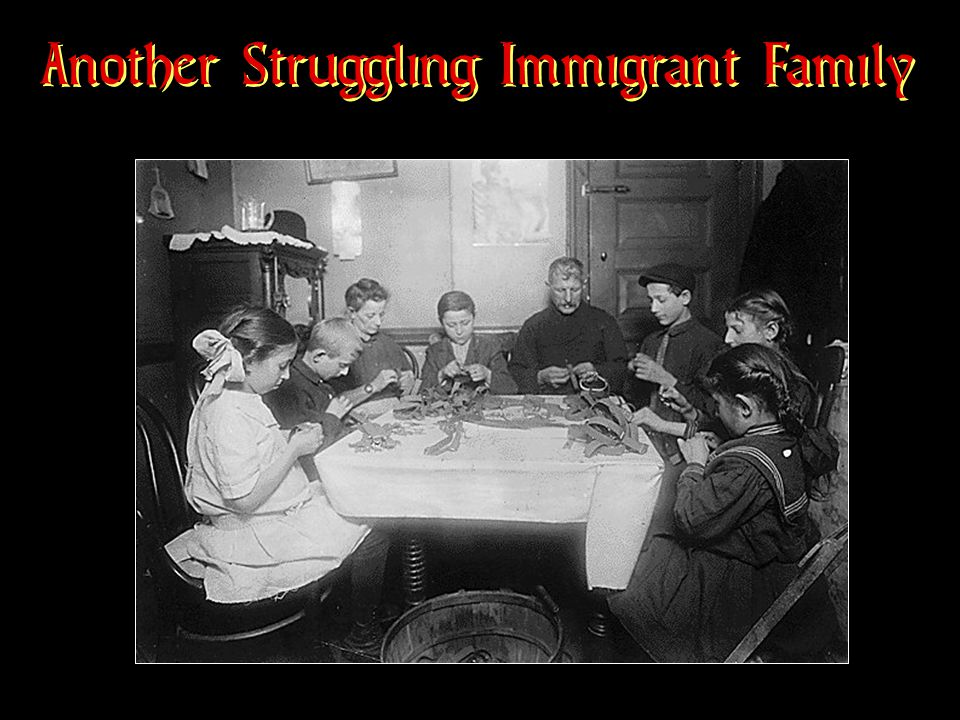 Another Struggling Immigrant Family