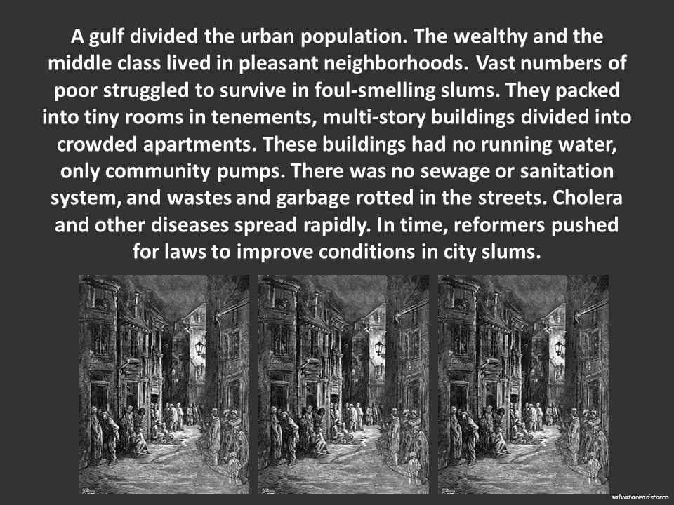 A gulf divided the urban population