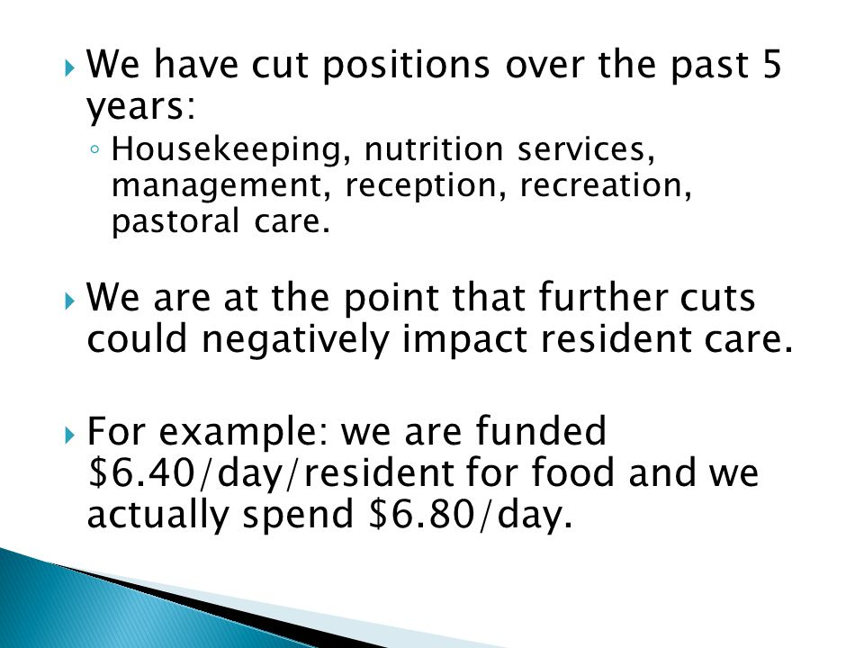 We have cut positions over the past 5 years: