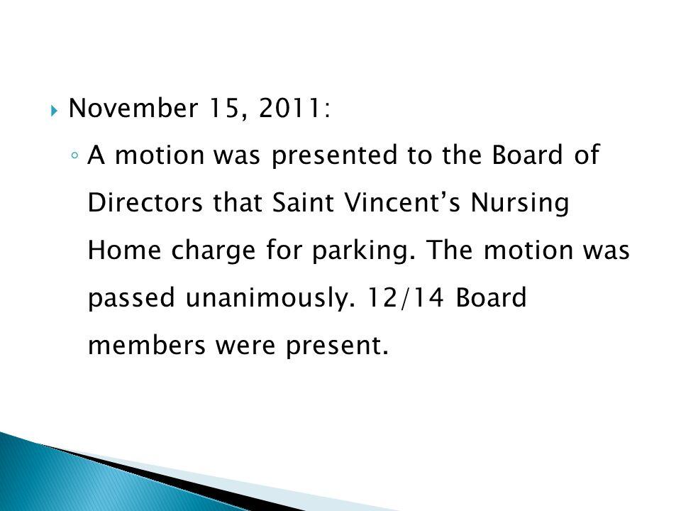 November 15, 2011: