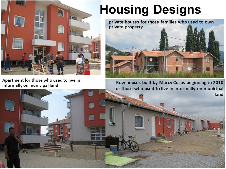 Housing Designs private houses for those families who used to own private property.