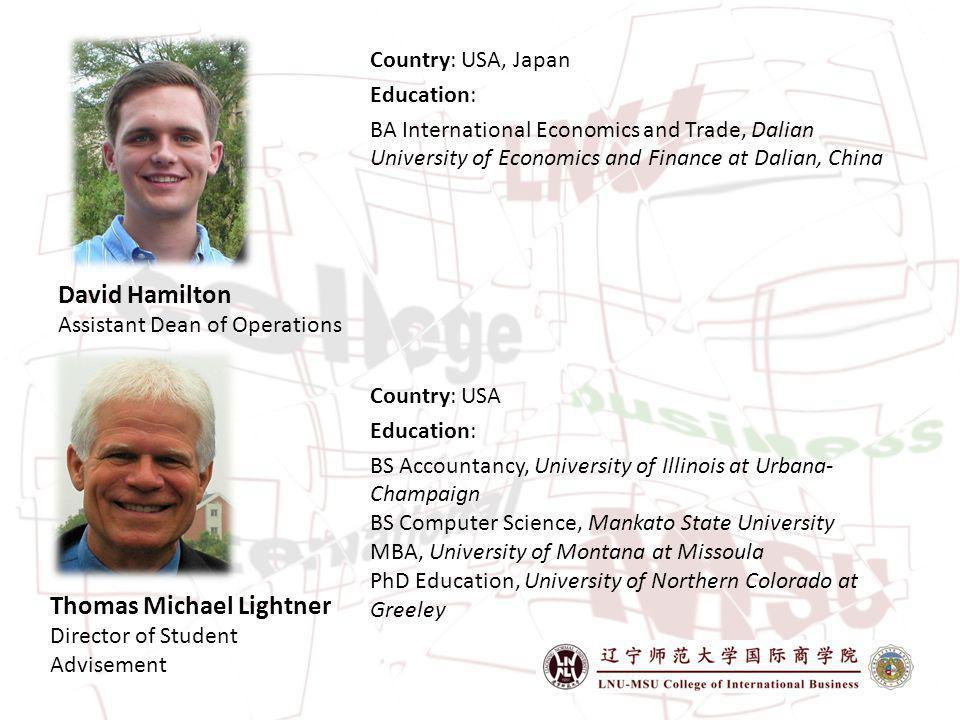 David Hamilton Assistant Dean of Operations