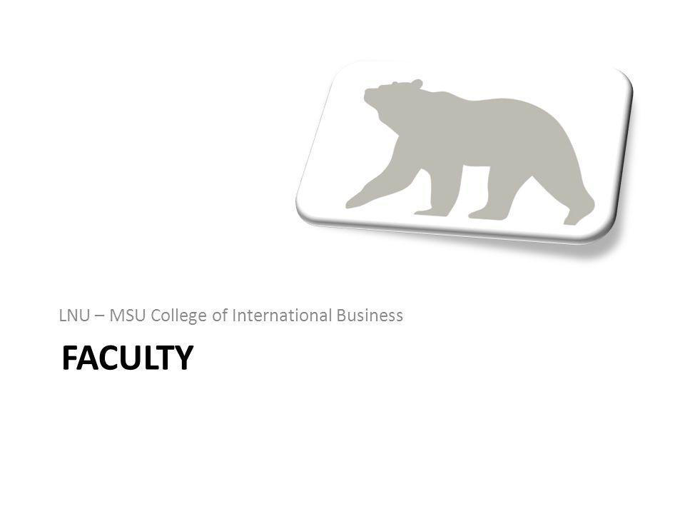 LNU – MSU College of International Business