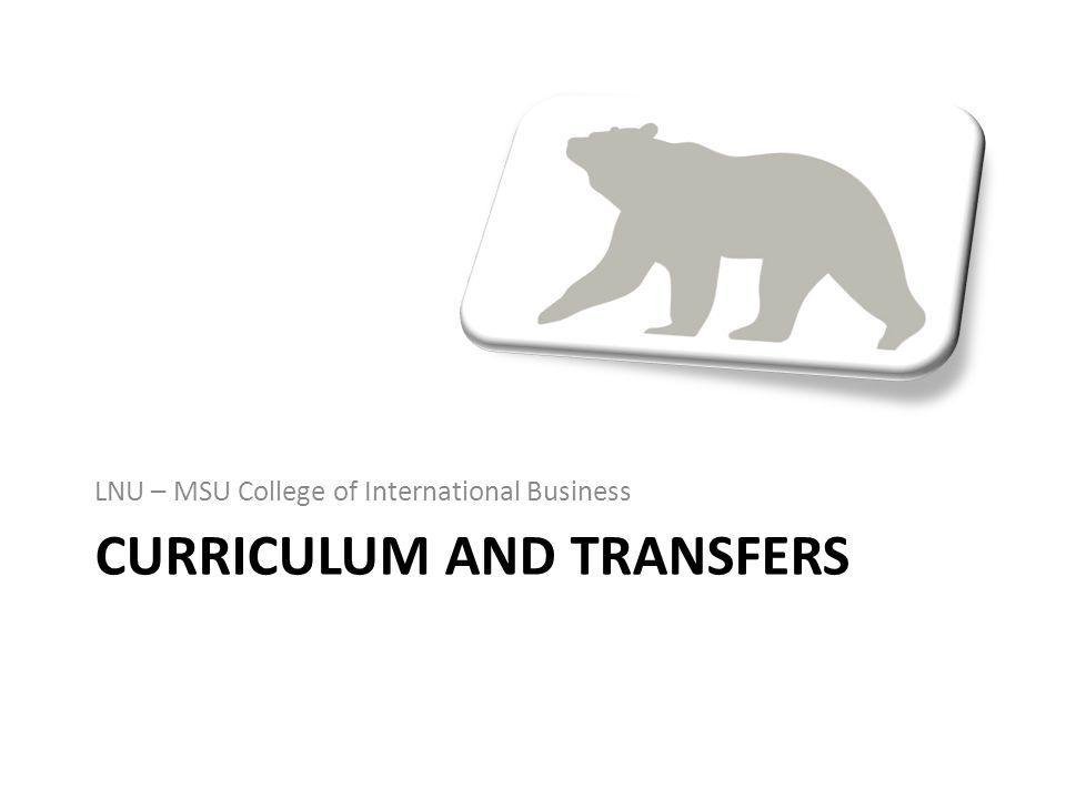 Curriculum and transfers