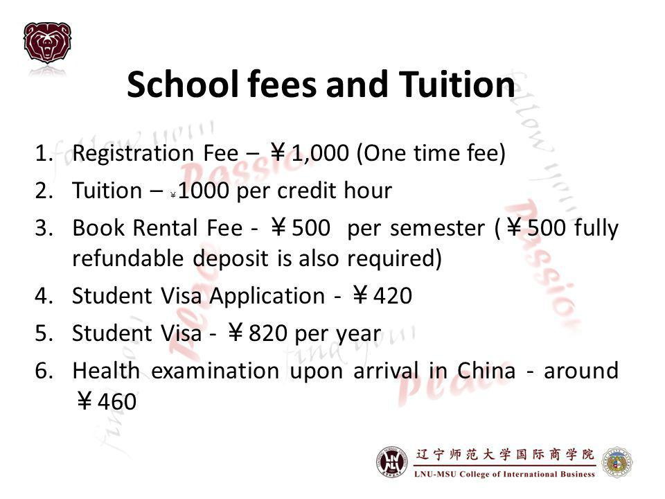School fees and Tuition
