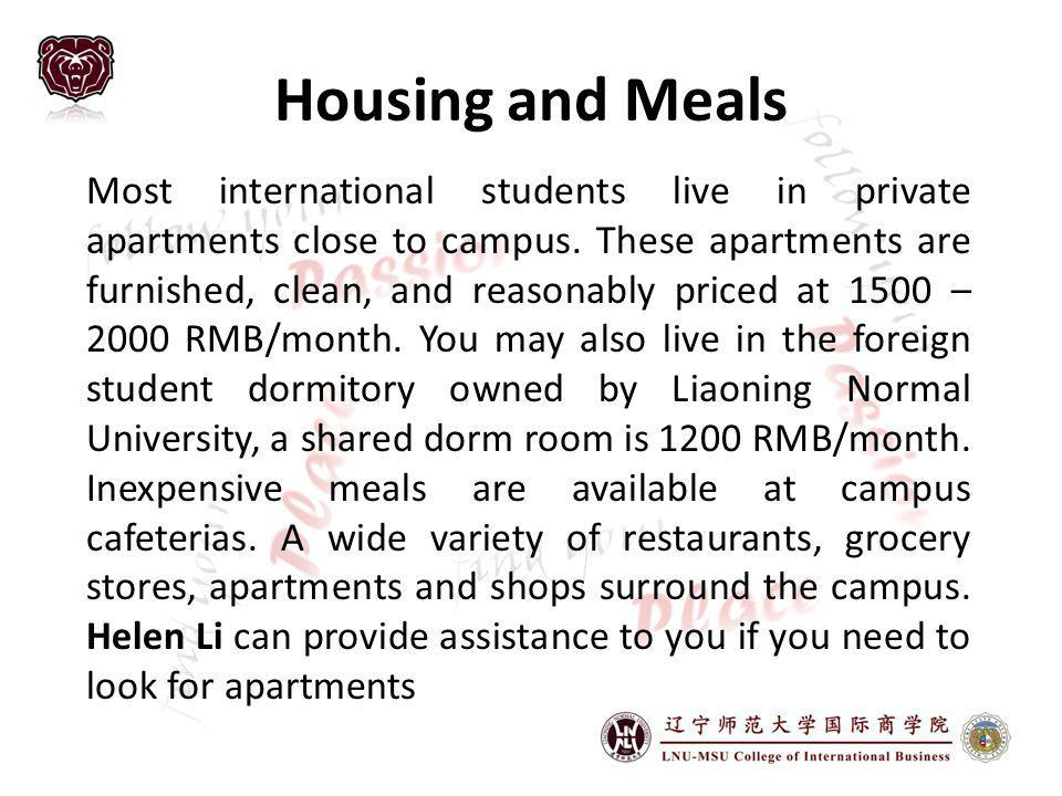 Housing and Meals