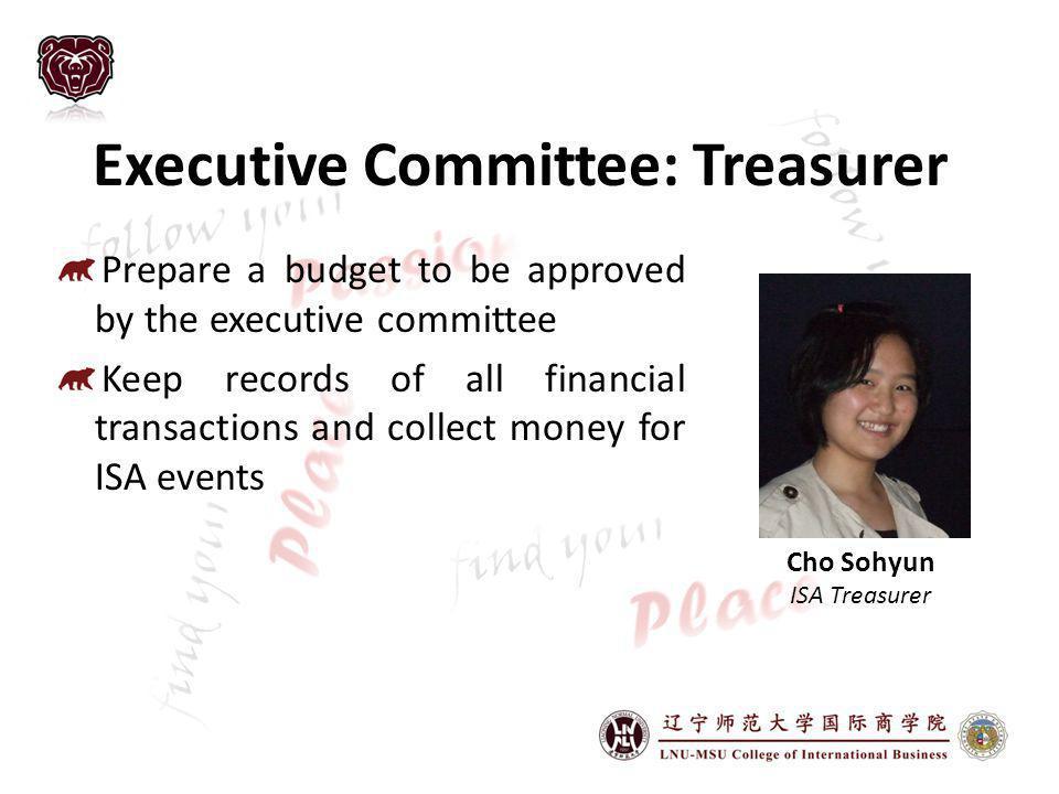 Executive Committee: Treasurer