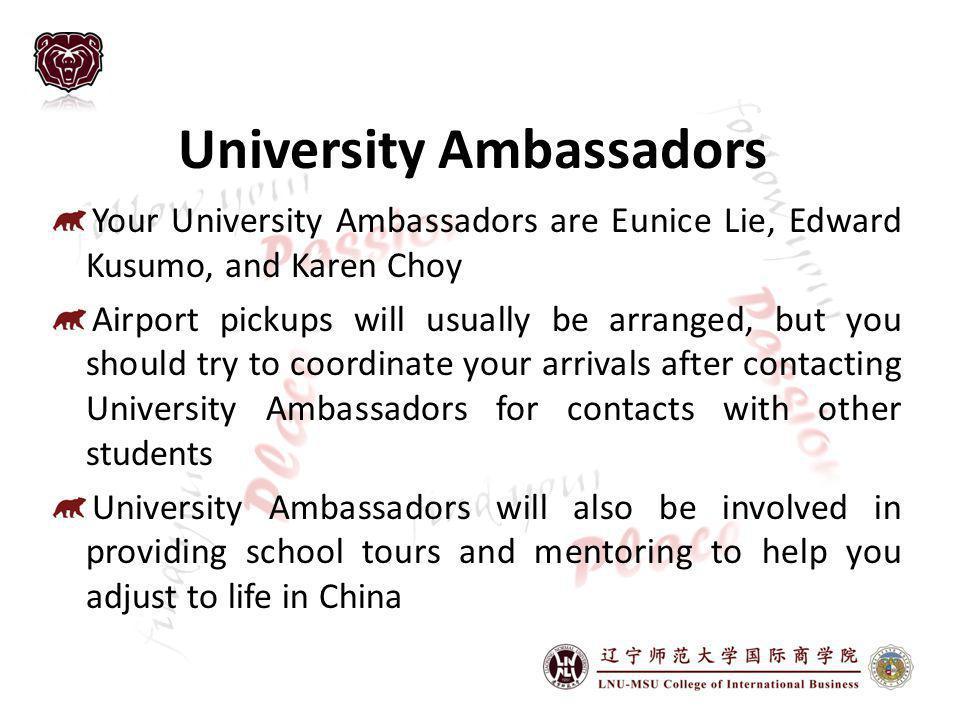 University Ambassadors