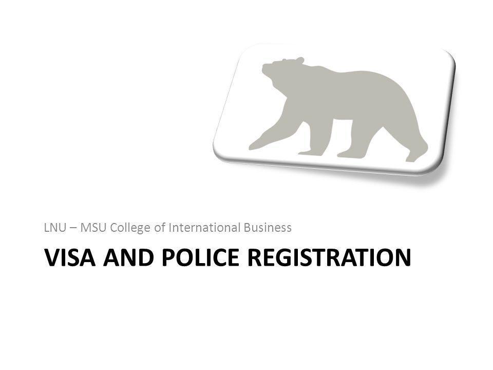 Visa and Police registration