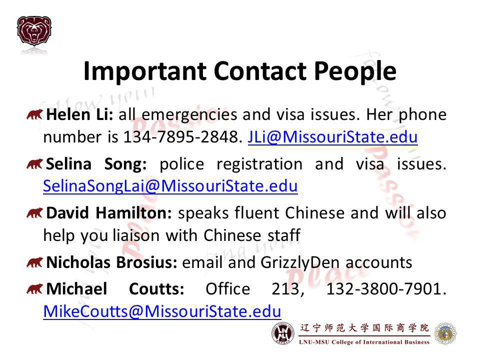 Important Contact People