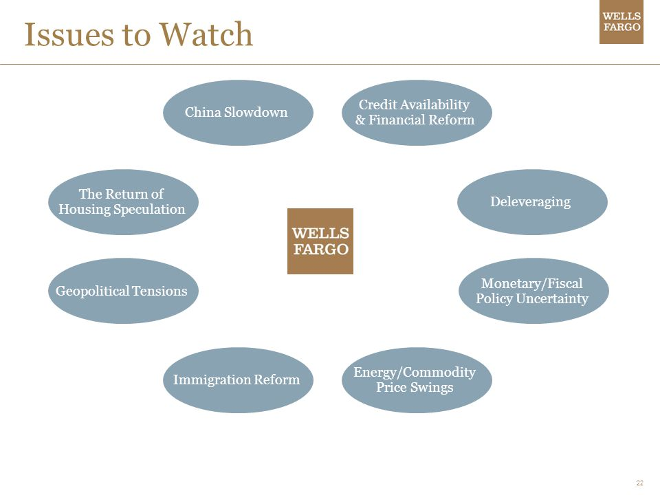 Issues to Watch Credit Availability & Financial Reform China Slowdown