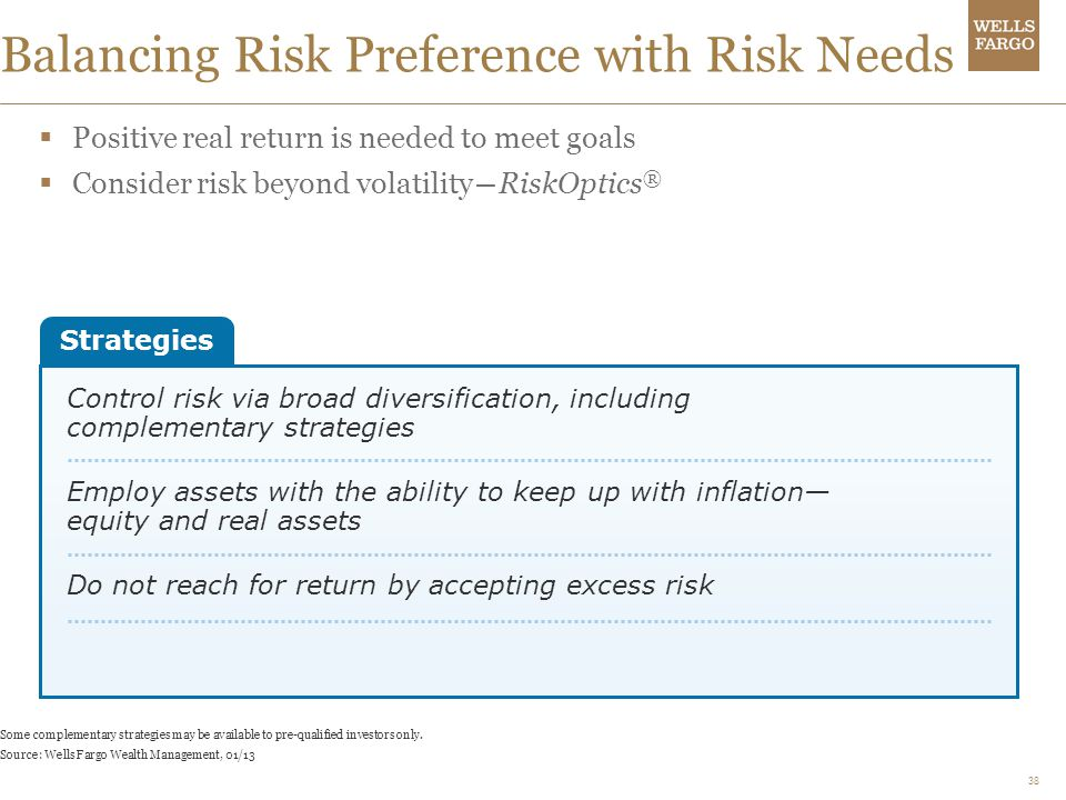 Balancing Risk Preference with Risk Needs