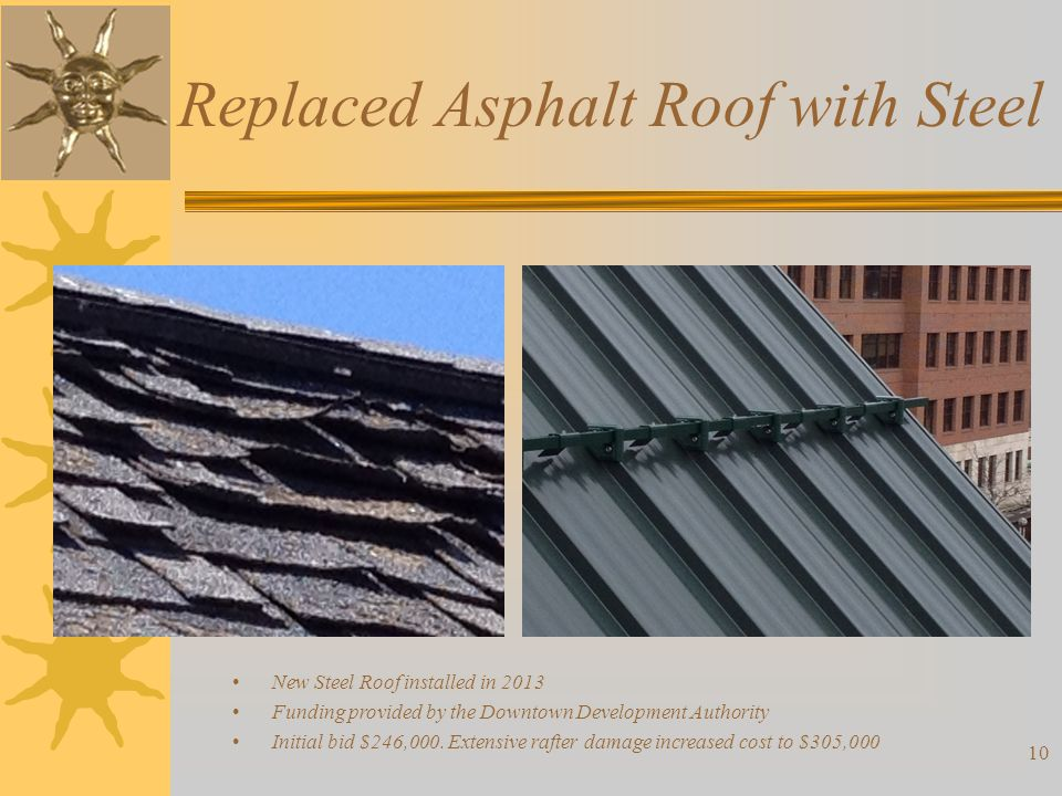 Replaced Asphalt Roof with Steel