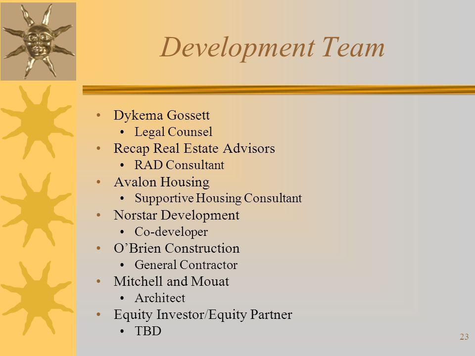 Development Team Dykema Gossett Recap Real Estate Advisors