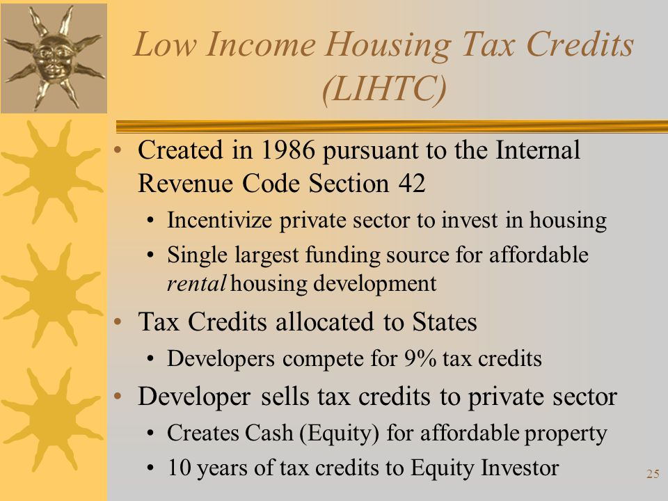 Low Income Housing Tax Credits (LIHTC)