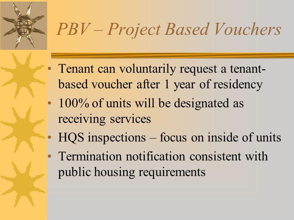 PBV – Project Based Vouchers