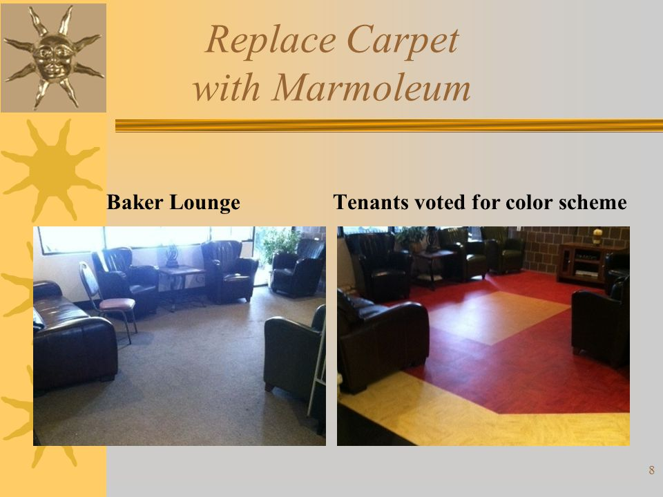 Replace Carpet with Marmoleum