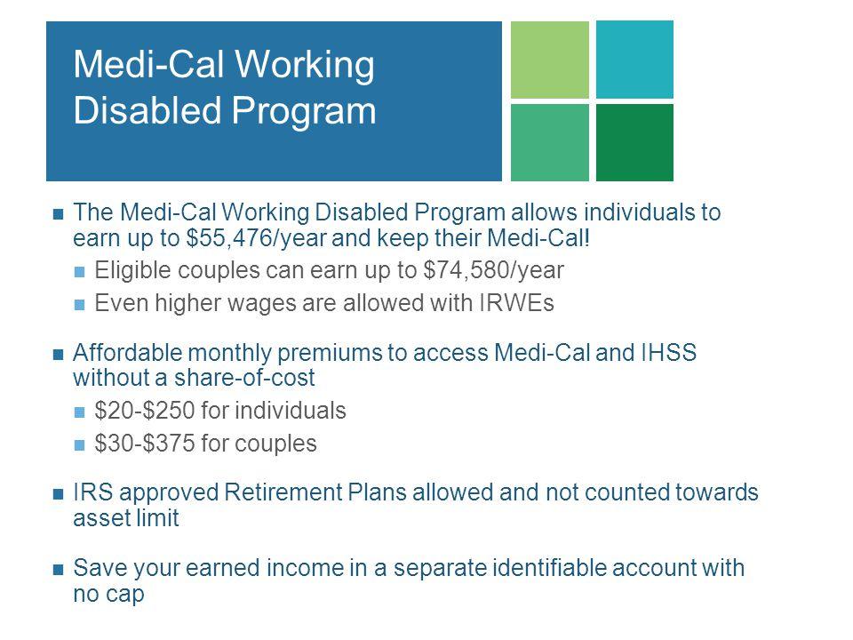 Medi-Cal Working Disabled Program
