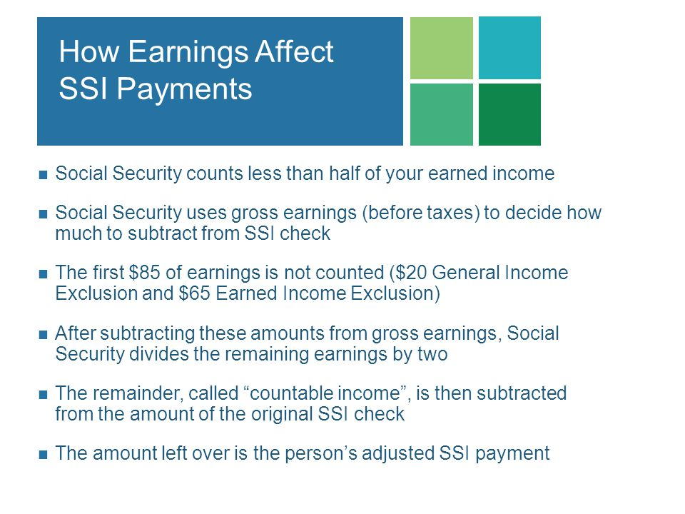How Earnings Affect SSI Payments