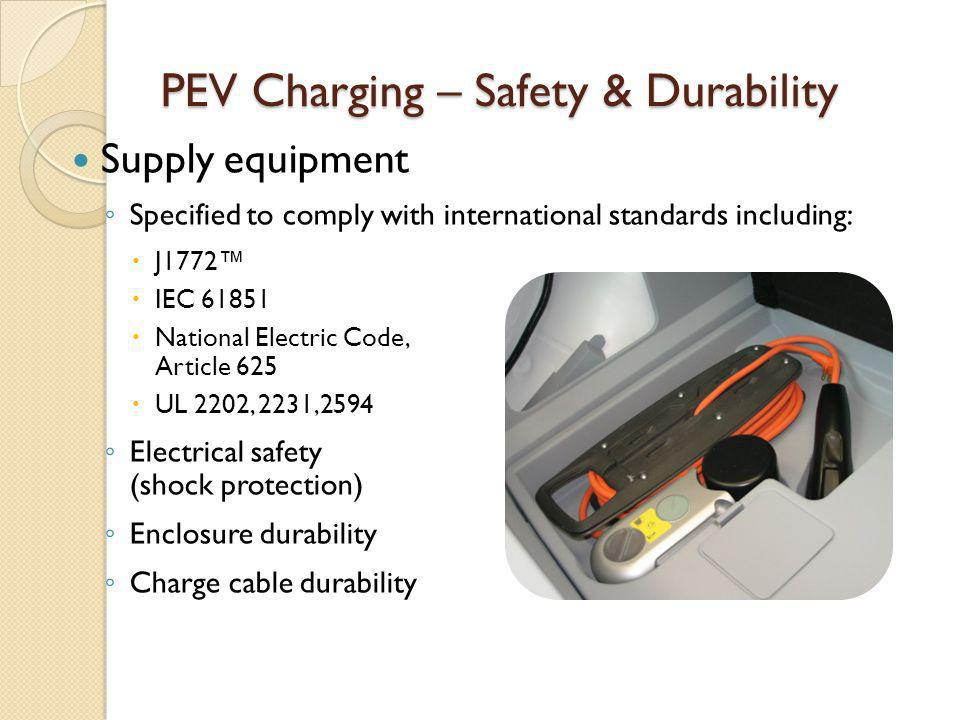 PEV Charging – Safety & Durability