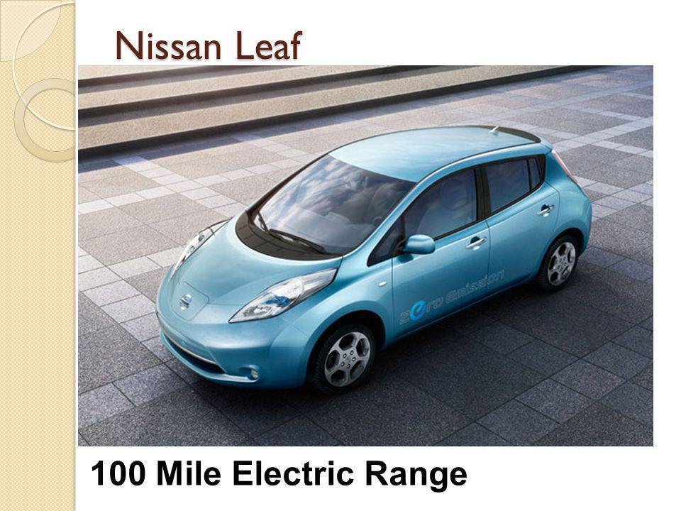 Nissan Leaf 100 Mile Electric Range
