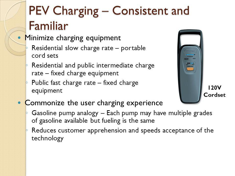PEV Charging – Consistent and Familiar