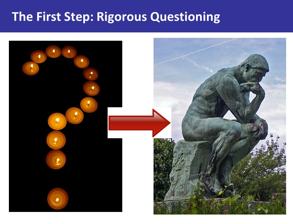 The First Step: Rigorous Questioning