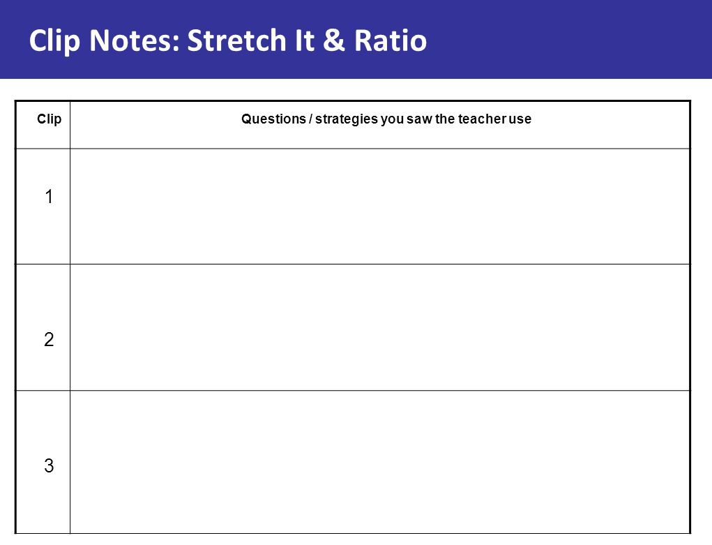 Clip Notes: Stretch It & Ratio