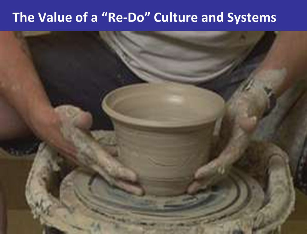 The Value of a Re-Do Culture and Systems